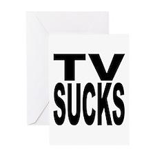 TV Sucks Greeting Card