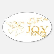 Joy (With Dove of Peace) Sticker (Oval)