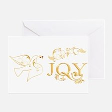 Joy (With Dove of Peace) Greeting Card