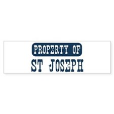 Property of St Joseph Bumper Bumper Sticker