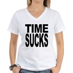 Time Sucks Women's V-Neck T-Shirt