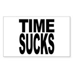 Time Sucks Rectangle Sticker 10 pk)