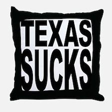 Texas Sucks Throw Pillow