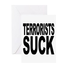 Terrorists Suck Greeting Card