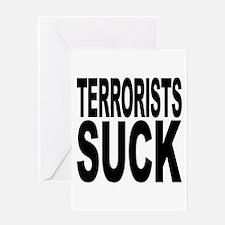 Terrorists Suck Greeting Card