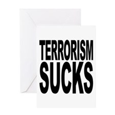 Terrorism Sucks Greeting Card