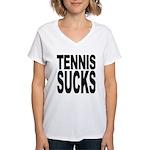 Tennis Sucks Women's V-Neck T-Shirt