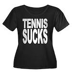 Tennis Sucks Women's Plus Size Scoop Neck Dark T-S