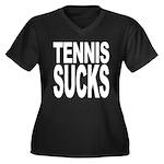 Tennis Sucks Women's Plus Size V-Neck Dark T-Shirt