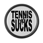 Tennis Sucks Large Wall Clock