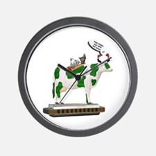 Grass Cow and Goats Wall Clock