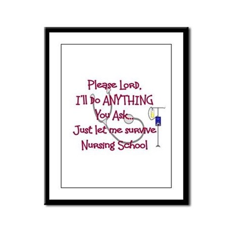 Student Nurse Framed Panel Print