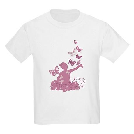 Ballerina Dancing Butterflies Kids Light T-Shirt