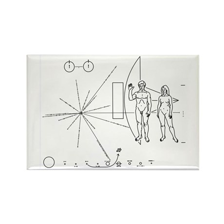 PIONEER 10 Rectangle Magnet