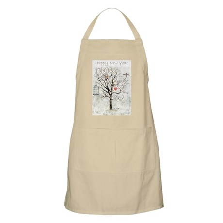 """""""New year and hearts..."""" BBQ Apron"""