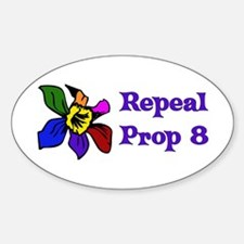Repeal Prop 8 Oval Decal