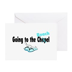 Going To The Chapel (Beach) Greeting Card