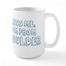 Kiss me: Boulder Mug