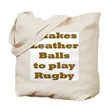 Leather Balls to play Rugby Tote Bag
