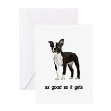 Good Boston Terrier Greeting Card