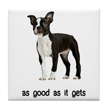 Good Boston Terrier Tile Coaster