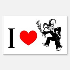 I *heart* Krampus Rectangle Decal