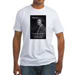Politics: Edmund Burke Fitted T-Shirt
