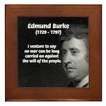 Politics: Edmund Burke Framed Tile