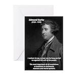 Politics: Edmund Burke Greeting Cards (Package of