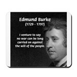 Politics: Edmund Burke Mousepad