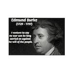 Politics: Edmund Burke Rectangle Magnet (100 pack)