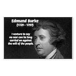 Politics: Edmund Burke Rectangle Sticker