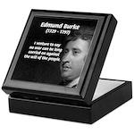 Politics: Edmund Burke Keepsake Box