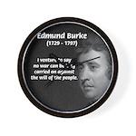 Politics: Edmund Burke Wall Clock