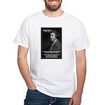 Politics: Edmund Burke White T-Shirt