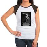 Politics: Edmund Burke Women's Cap Sleeve T-Shirt