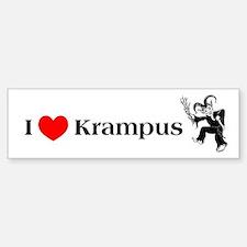 I *heart* Krampus Bumper Bumper Bumper Sticker