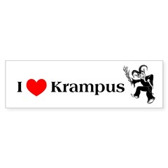I *heart* Krampus Bumper Bumper Sticker