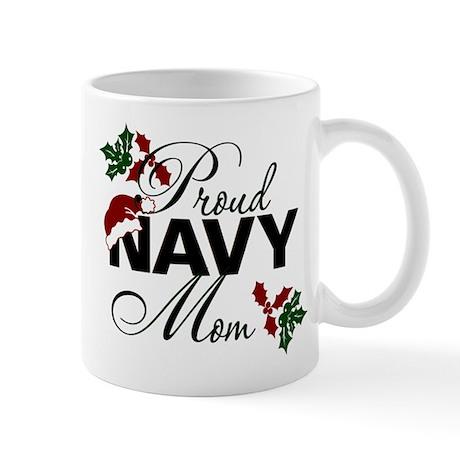Proud Navy Mom Holly Mug