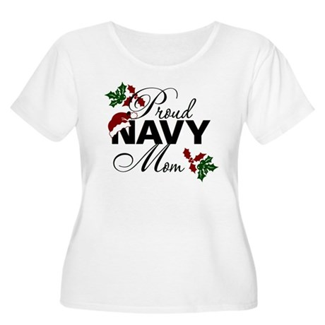 Proud Navy Mom Holly Women's Plus Size Scoop Neck