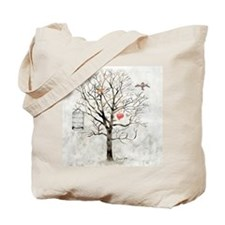 """"""" Winter and hearts """" Tote Bag"""