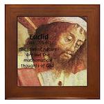Euclid: Math and Philosophy Framed Tile
