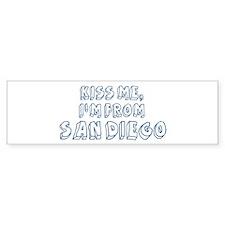 Kiss me: San Diego Bumper Sticker
