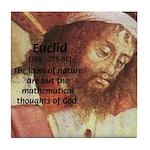 Euclid: Math and Philosophy Tile Coaster