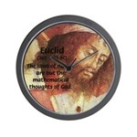 Euclid: Math and Philosophy Wall Clock