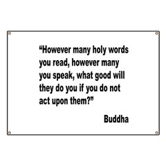 Buddha Holy Words Quote Banner