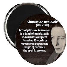 "Simone De Beauvoir 2.25"" Magnet (100 pack)"