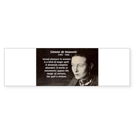 Simone De Beauvoir Bumper Sticker