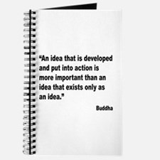 Buddha Idea Into Action Quote Journal