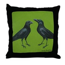 Funny Crows Throw Pillow